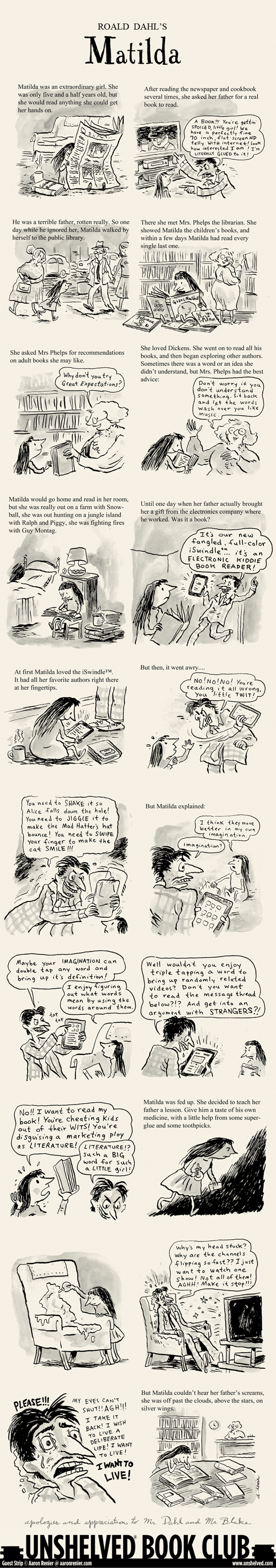 Matilda vs The E-Reader