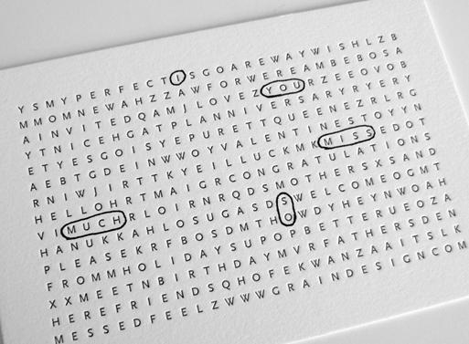 Letterpress Utility Cards [Wishlist]