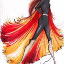 Fashion Designers Imagine Katniss's Fire Dress [Hunger Games Pr0n]
