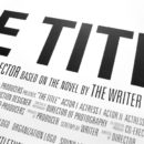 """""""The Title"""" Movie Poster: The Power of Typography"""