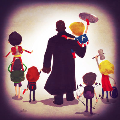 superheroes_take_kids_to_school_nick_fury