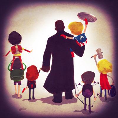 superheroes_take_kids_to_school_nick_fury