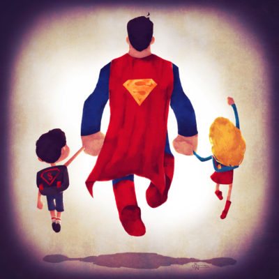 superheroes_take_kids_to_school_superman