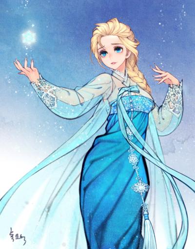 western_folktales_korean_illustration_elsa