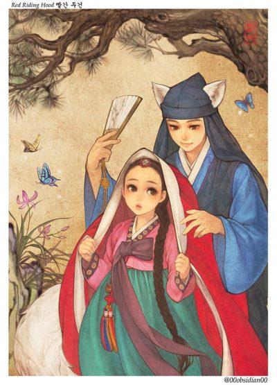 western_folktales_korean_illustration_little_red_riding_hood