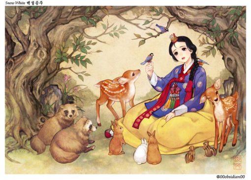 western_folktales_korean_illustration_snow_white