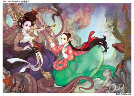 western_folktales_korean_illustration_the_little_mermaid
