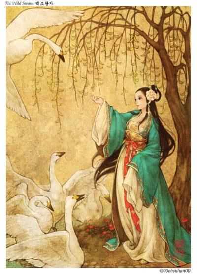 western_folktales_korean_illustration_the_wild_swans