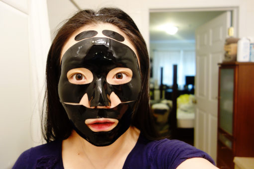 shangpree_charcoal_hydrogel_mask_on