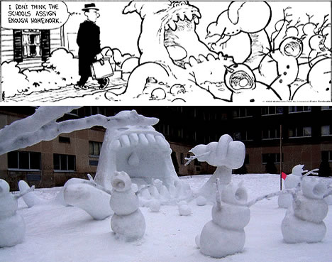 'Calvin and Hobbes' Snowmen