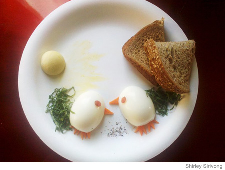 Husband Creates Food Art for Pregnant Wife on Bed Rest