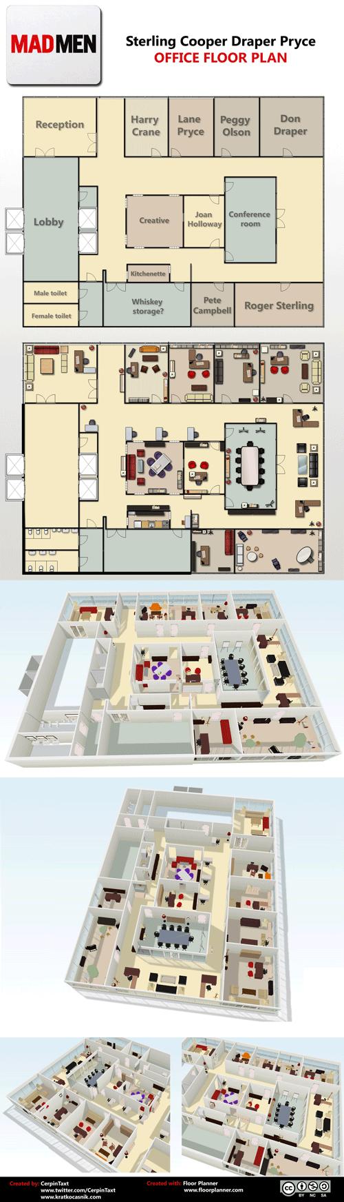 Sterling Cooper Draper Pryce Floorplan
