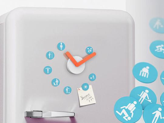Magnet Clocks for Your Fridge