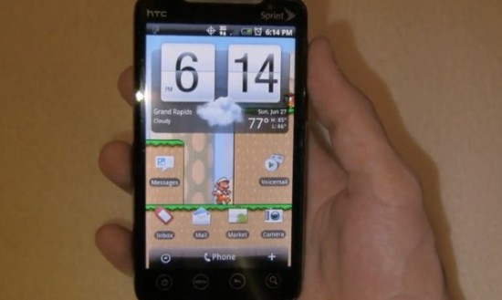 Mario Live Wallpaper for Android [zOMG!]