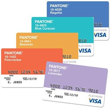 Pantone Credit Cards