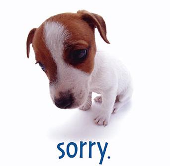 Major Apologies!