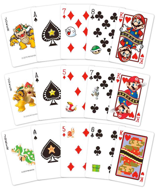 Super Mario Playing Cards [I Want!]
