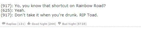 Super Mario Texts from Last Night