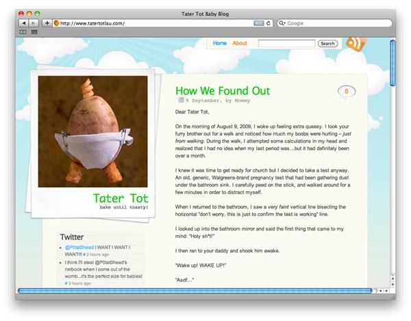 Tater Tot Baby Blog