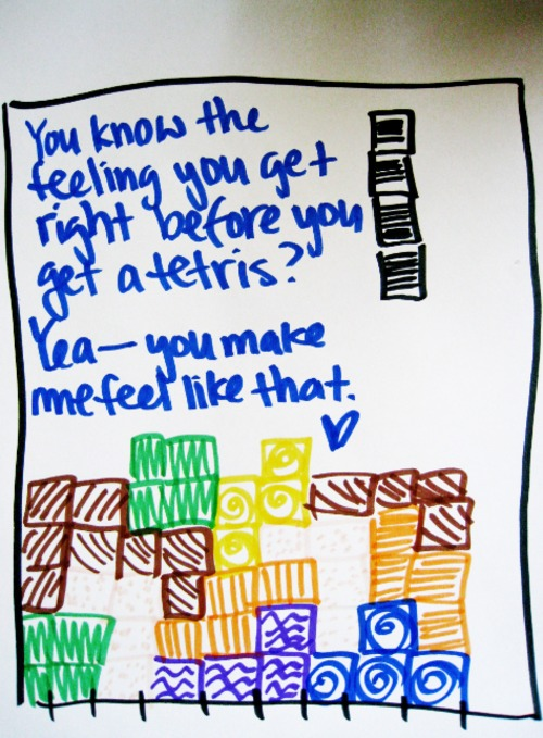 Tetris Love Note