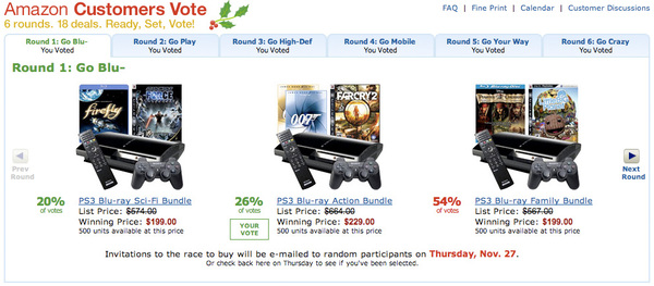 Go Vote for Amazon's $199-$229 PS3 Bundles!