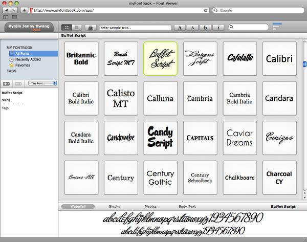 MyFontbook: A Better Font Viewer