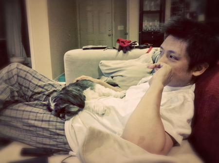 Comang with Daddy