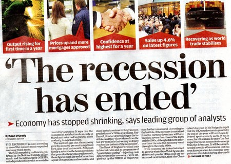 Is the recession still bad in your area?