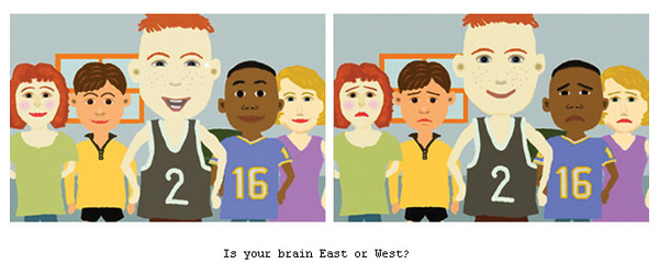 Is Your Brain East or West?