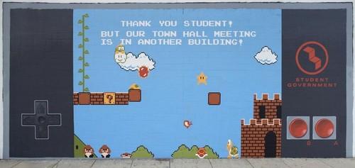 Super Mario Interactive Mural