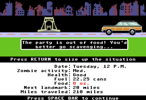 """Oregon Trail""…With ZOMBIES!!!"