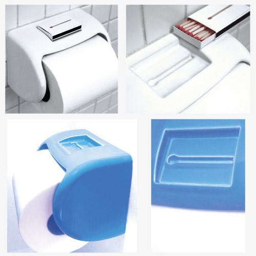 Toilet Paper Dispenser with Matchbox Holder