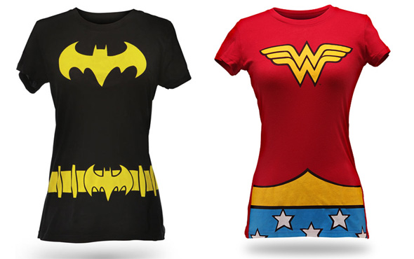 Wonder Woman and Batgirl Shirts